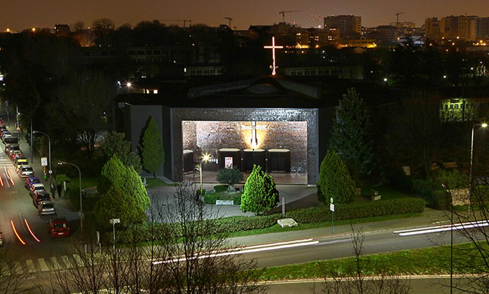 chiesa san filippo neri bovisasca notte